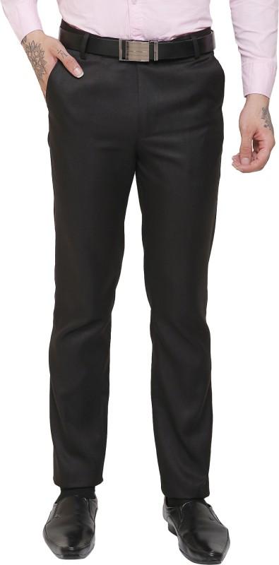 AD & AV Slim Fit Men Black Trousers