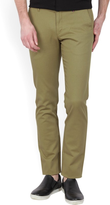 LP Louis Philippe Slim Fit Mens Beige Trousers