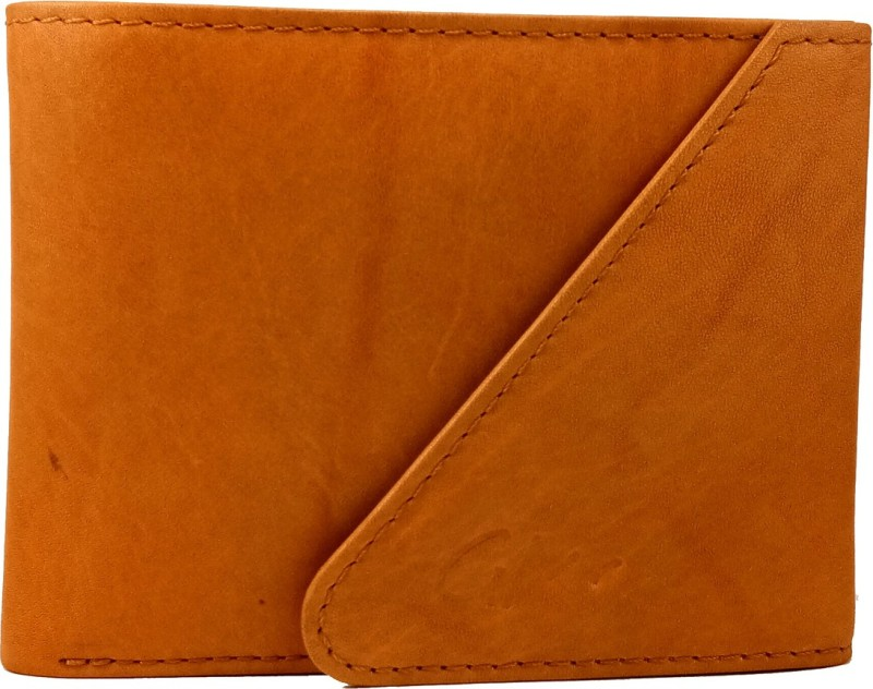 Gentleman Boys Tan Genuine Leather Wallet(6 Card Slots)