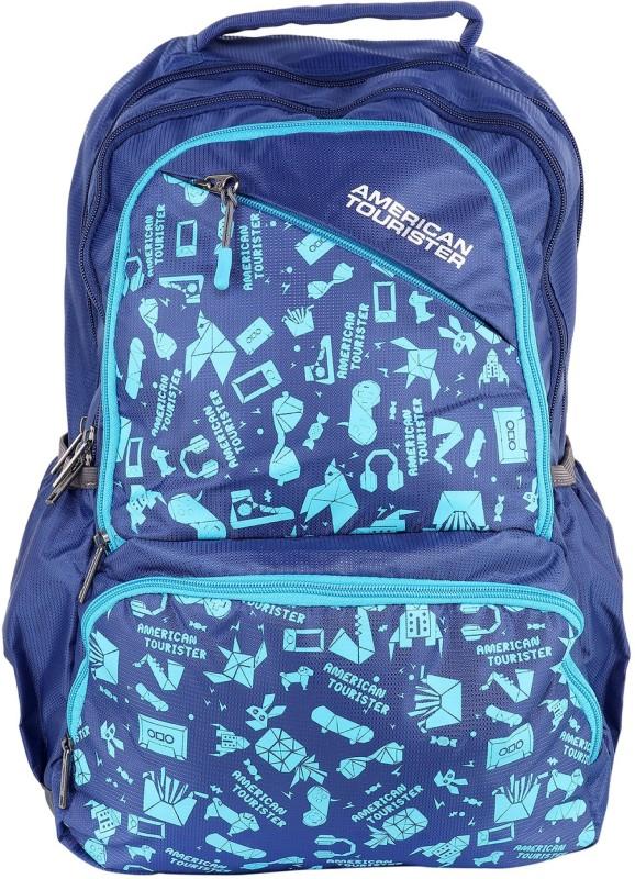 American Tourister DOODLE 01 BLUE 2017 28 L Backpack(Blue)