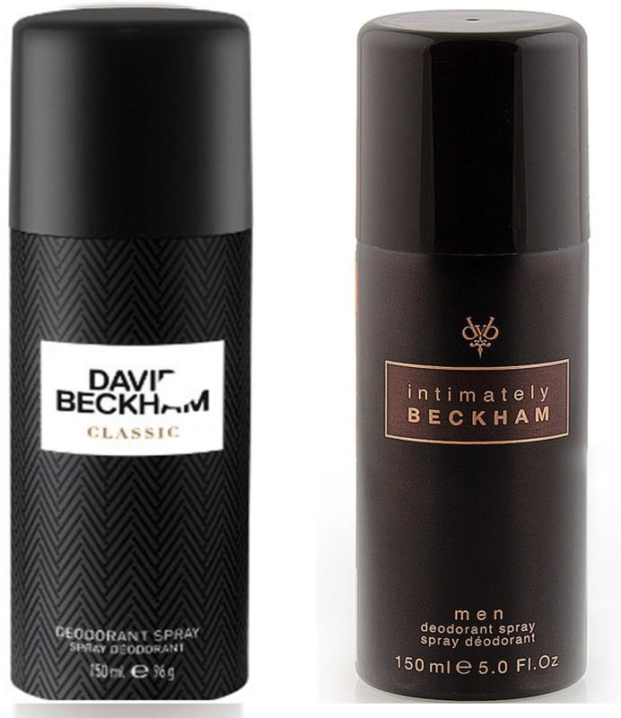 David Beckham Classic Intimately Deodorant Spray - For Men(300 ml, Pack of 2)