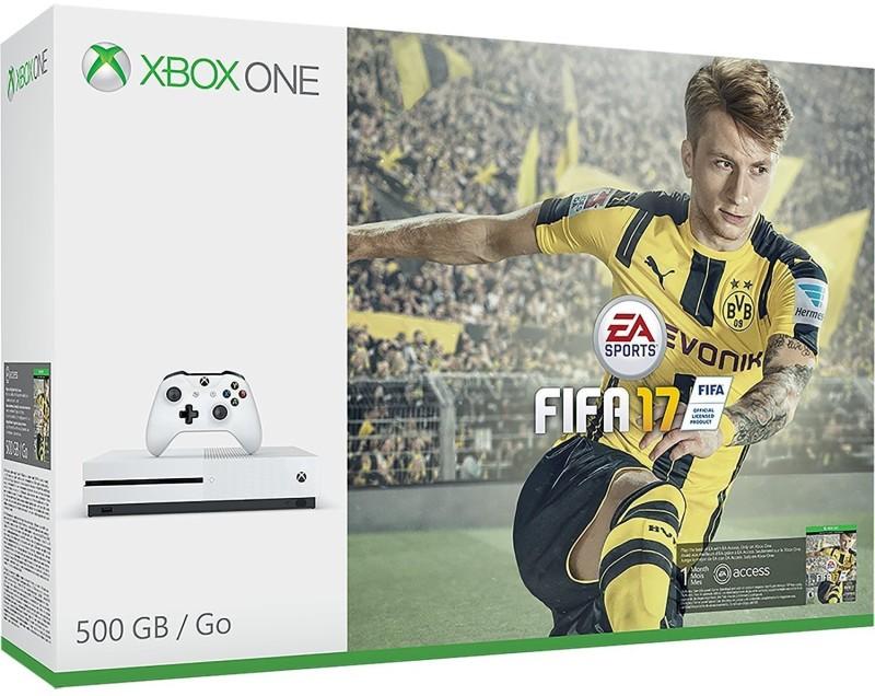 Microsoft Xbox One S Console 500 GB with Fifa 17(White)