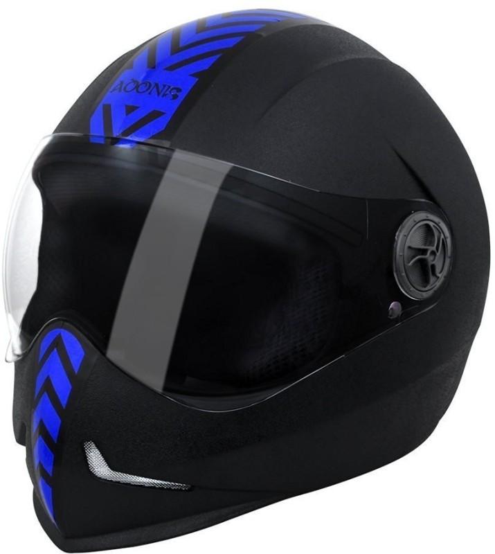 AUTOTRUMP steelbird Adonis dashing Motorbike Helmet(Black blue sticker)