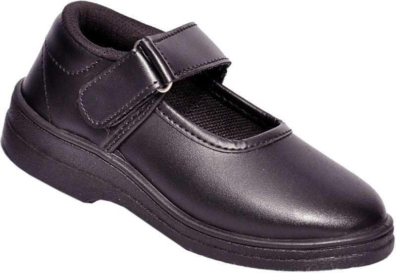 Lakhani Girls Velcro Formal Boots(Black)