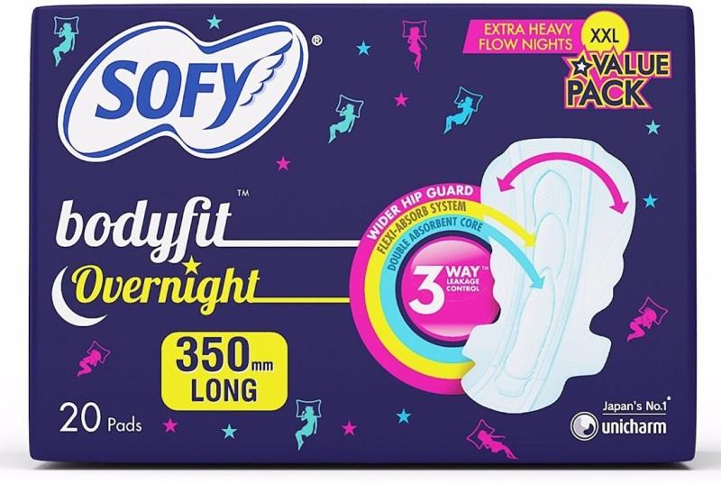 Sofy Bodyfit Overnight XXL Sanitary Pad(Pack of 20)