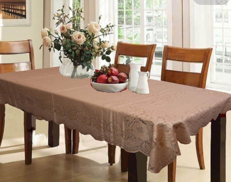 Kuber Industries Printed 6 Seater Table Cover(Brown, Cotton)