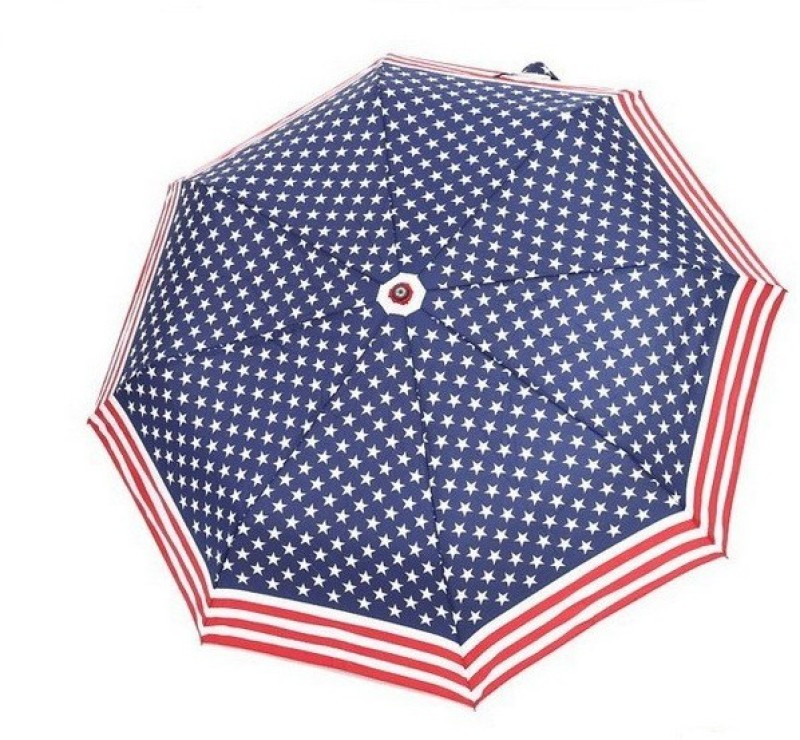 VibeX Windproof USA Flag Umbrella(Multicolor)