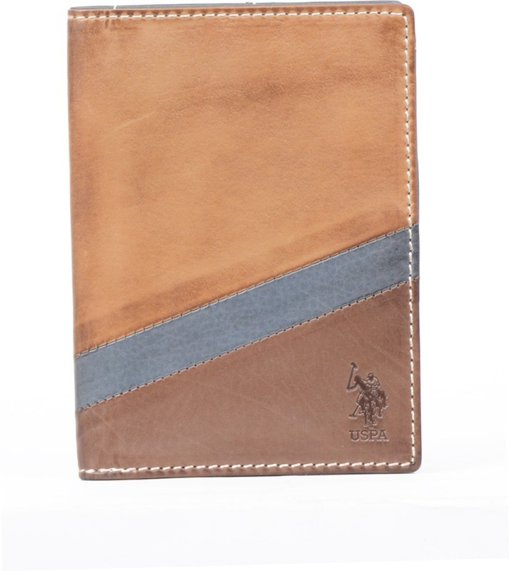 U.S. Polo Assn. Men Multicolor Genuine Leather Wallet(6 Card Slots)