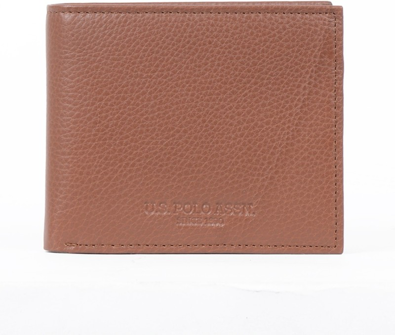 U.S. Polo Assn. Men Brown Artificial Leather Wallet(10 Card Slots)