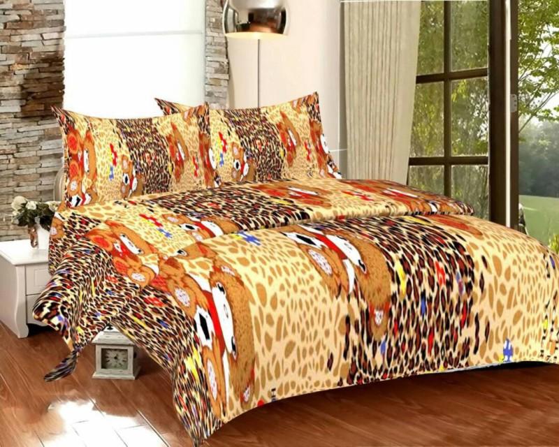 lavish enterprises 144 TC Cotton Double Printed Bedsheet(Pack of 1, Multicolor)