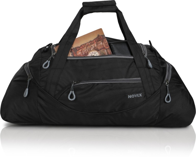 Novex Lite (Expandable) Travel Duffel Bag(Black)