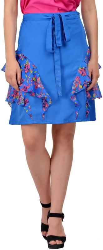 KARMIC VISION Self Design Women Layered Blue Skirt
