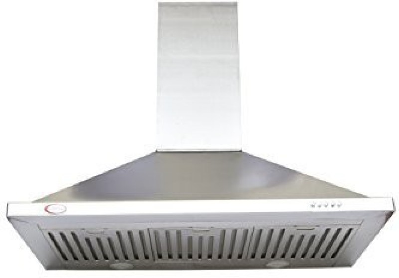 BrightFlame Aster Stainless Steel 90 CM Wall Mounted Chimney(Stainless Steel 1100)