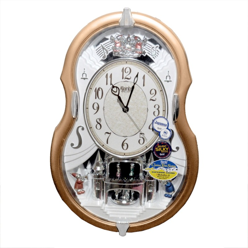 Ajanta Analog 40 cm X 35 cm Wall Clock(Brown, With Glass)