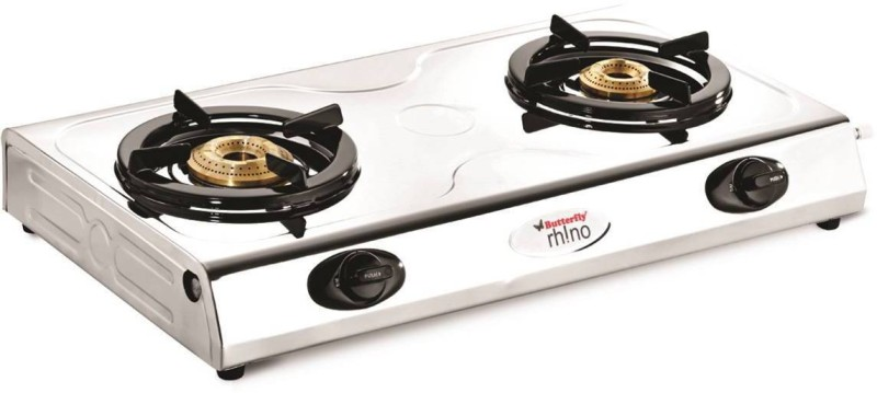 Butterfly RHINO SS 2 BURNER Stainless Steel Manual Gas Stove(2 Burners)