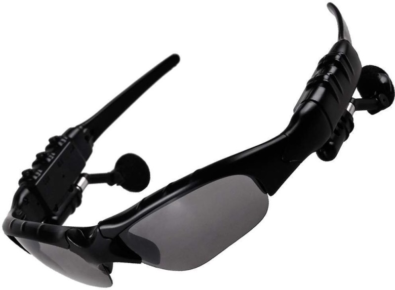 VibeX Wireless Motorcycle Glasses Bluetooth MP3 Sun Glasses Camping & Hiking Goggles(Black)
