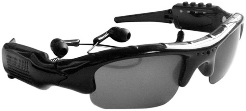 VibeX Poloroid Sunglasses Music MP3 Player devices for Driving Cycling Running Goggles(Black)