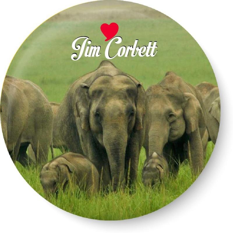 PEACOCKRIDE Love Jim Corbett Magnet Fridge Magnet(Pack of 1, Multicolor)