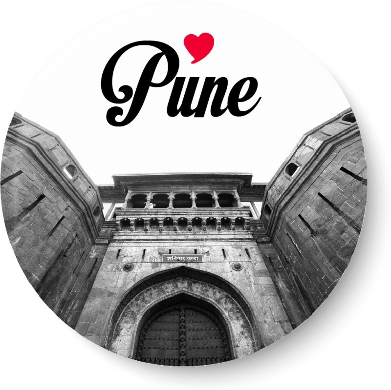 PEACOCKRIDE Love Pune Magnet Fridge Magnet(Pack of 1, Multicolor)