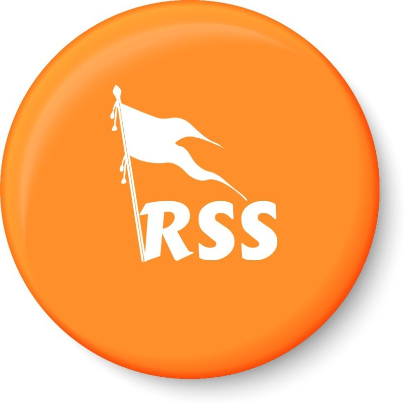 PEACOCKRIDE RSS-Rashtriya Swayamsevak Sangh Fridge magnet Fridge Magnet Pack of 1(Multicolor)
