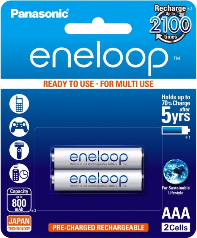 Panasonic eneloop 2 pcs AAA Rechargeable Ni-MH Battery