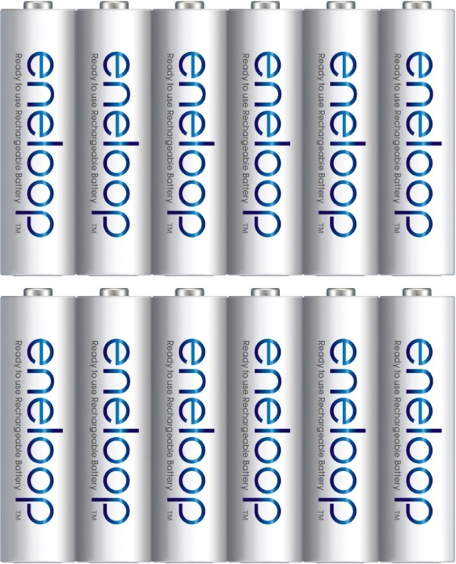 Panasonic eneloop 12 AA 2000mAh Ready to use for Multi use Rechargeable Ni-MH Battery