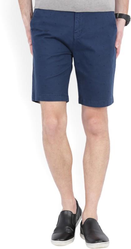 Wrangler Printed Men Dark Blue Chino Shorts