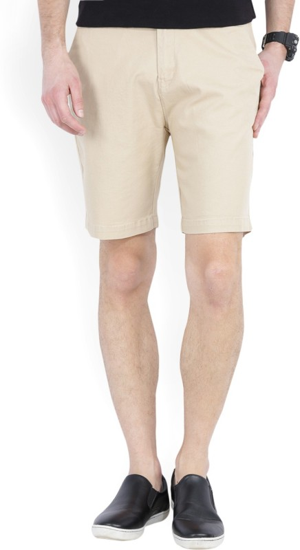 Wrangler Solid Men Beige Chino Shorts