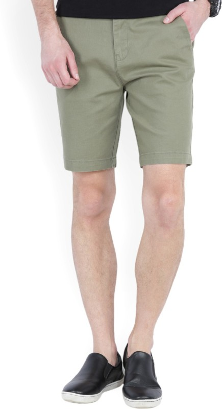 Wrangler Solid Men Green Chino Shorts