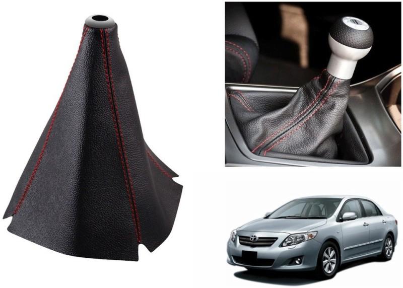 Speedwav Leatherette Cover for Toyota Corolla Altis Car Gear Lever(Black)