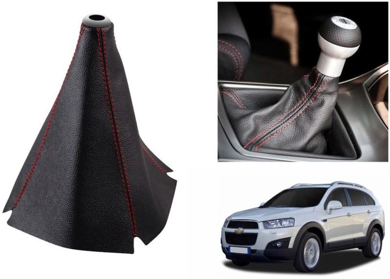 Speedwav Leatherette Cover for Chevrolet Captiva Car Gear Lever(Black)