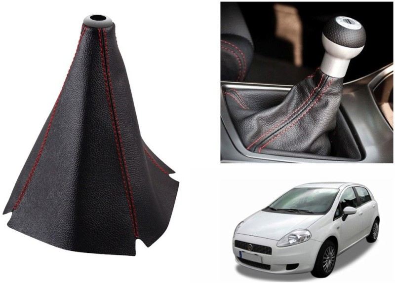 Speedwav Leatherette Cover for Fiat Punto Car Gear Lever(Black)