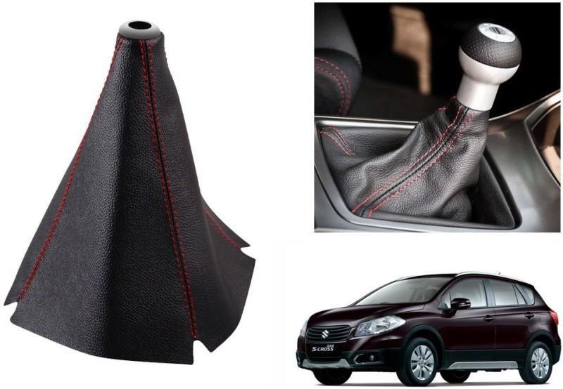 Speedwav Leatherette Cover for Maruti S-Cross Car Gear Lever(Black)