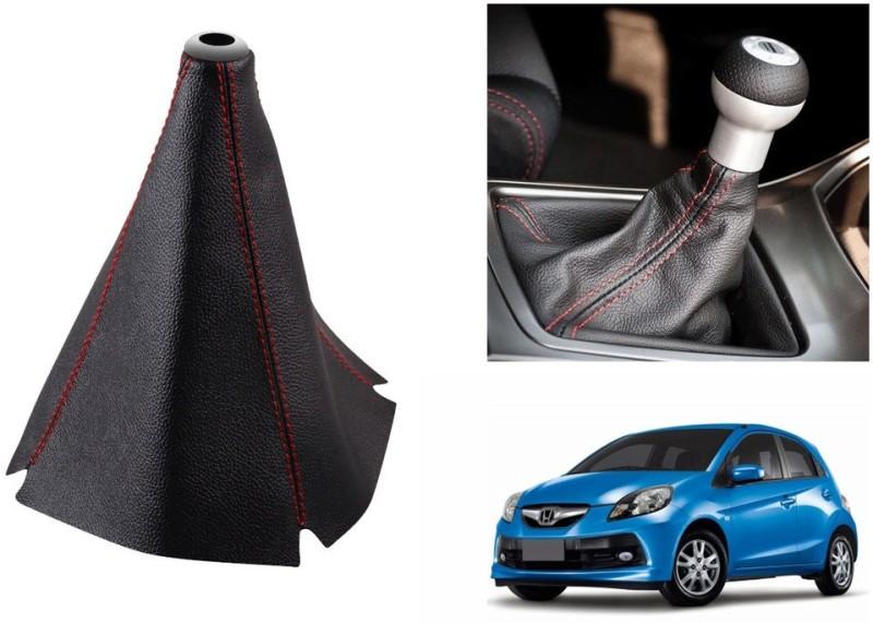 Speedwav Leatherette Cover for Honda Brio Car Gear Lever(Black)