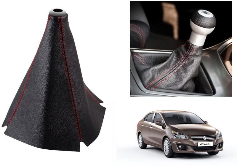 Speedwav Leatherette Cover for Maruti Ciaz Car Gear Lever(Black)