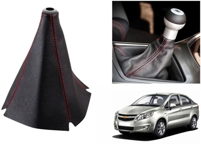 Speedwav Leatherette Cover for Chevrolet Sail Car Gear Lever(Black)