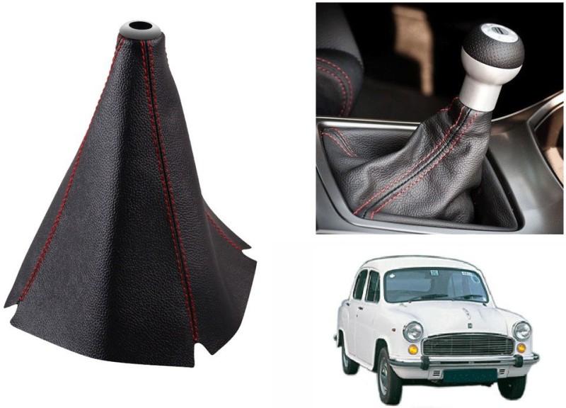 Speedwav Leatherette Cover for HM Ambassador Car Gear Lever(Black)