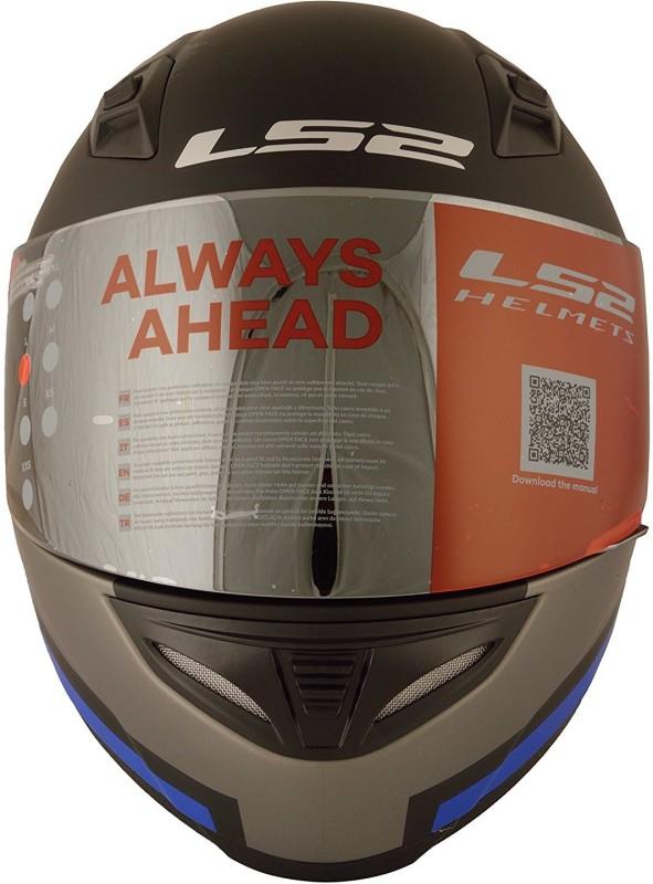 LS2 Pisoton Motorbike Helmet(Black)