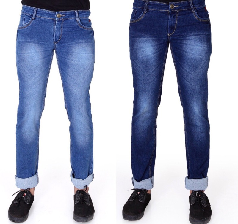 Ragzo Slim Men Multicolor Jeans(Pack of 2)