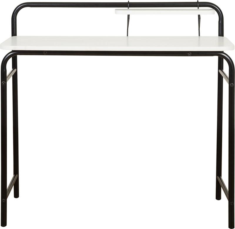 FurnitureKraft Birmingham Metal Study Table(Finish Color - Black)