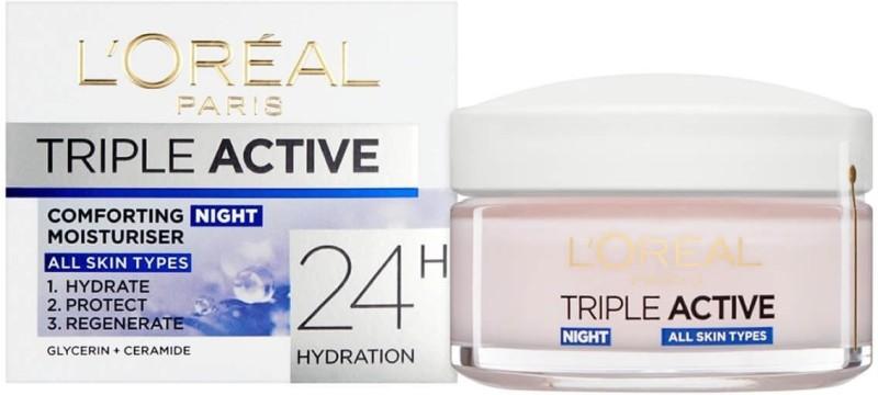 LOreal Triple Active Comforting Night Moisturiser(50 ml)