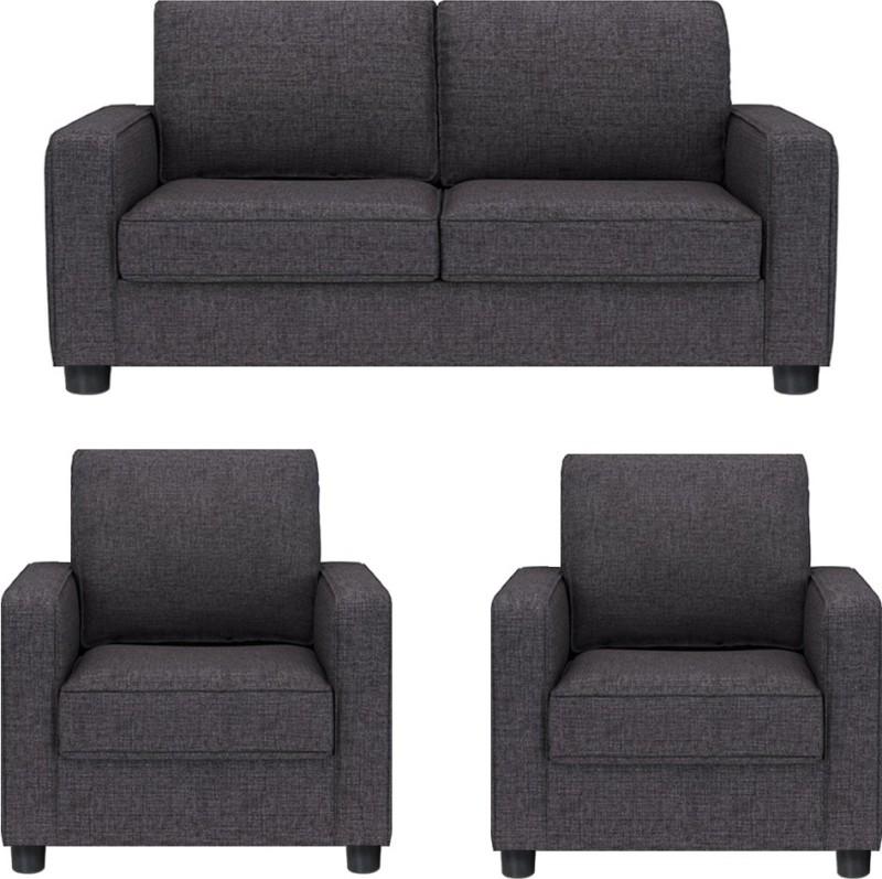 GIOTEAK Fabric 2 + 1 + 1 GREY Sofa Set