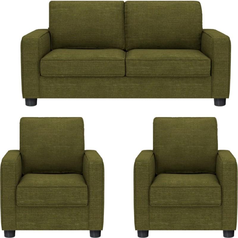 GIOTEAK Fabric 2 + 1 + 1 GREEN Sofa Set