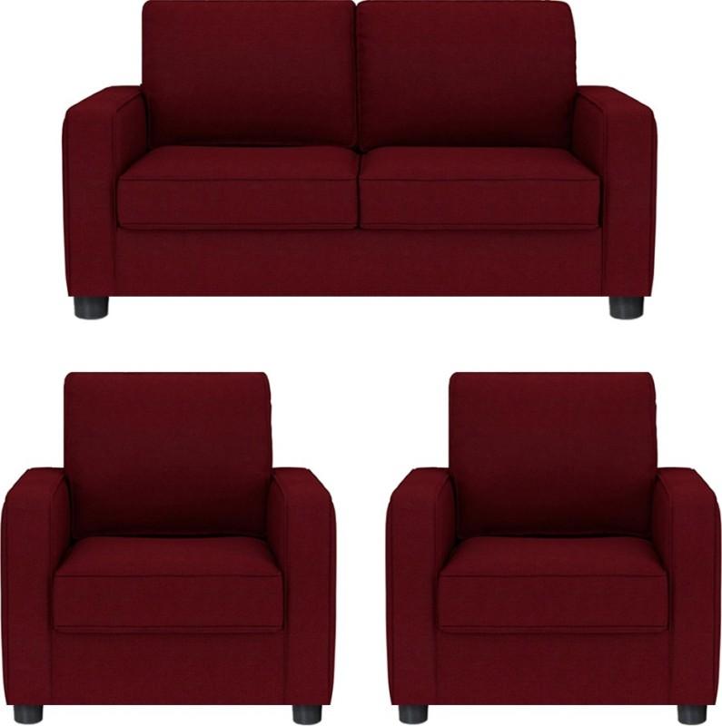 GIOTEAK Fabric 2 + 1 + 1 RED Sofa Set