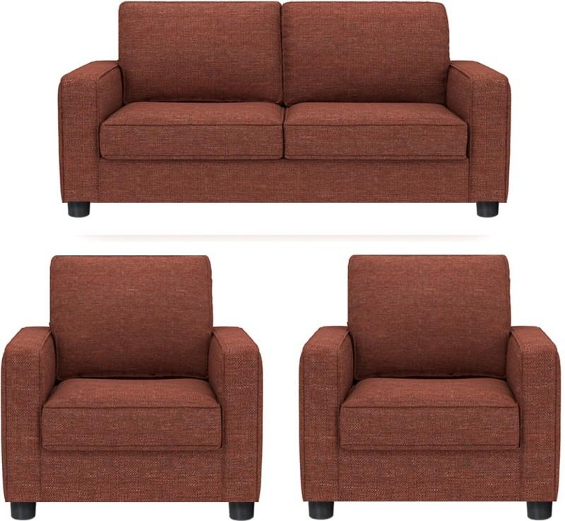 GIOTEAK Fabric 2 + 1 + 1 MAROON Sofa Set