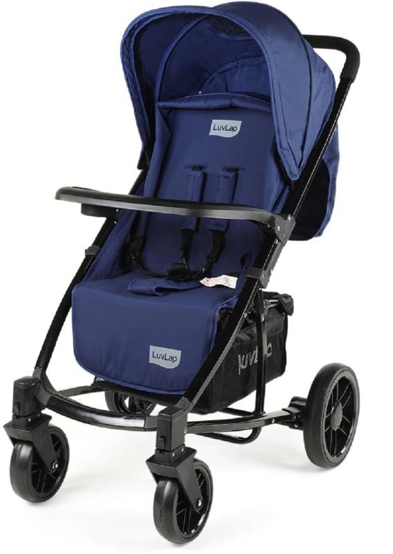 LuvLap Elite Baby Pram Stroller - Blue Stroller(3, Blue)