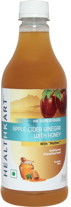 Healthkart Apple Cider with Mother- Natural, Raw, Unfiltered with Honey Vinegar(500 ml)