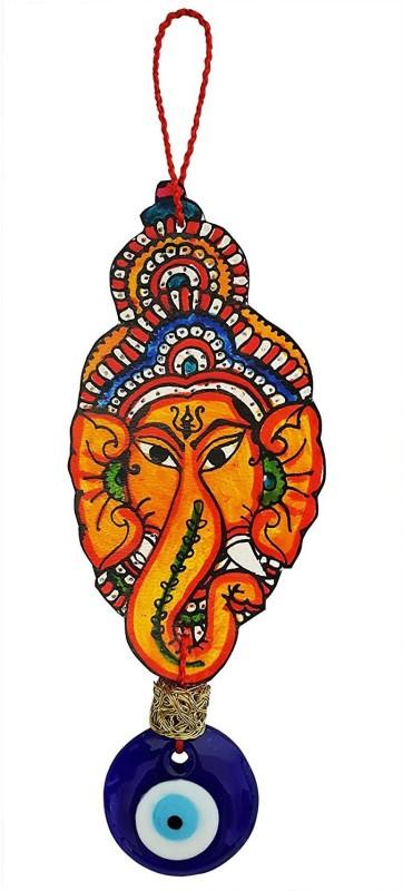 Mehrunnisa Turkish Evil Eye Hand Painted Ganesha Good Luck Hanging Door Hanger