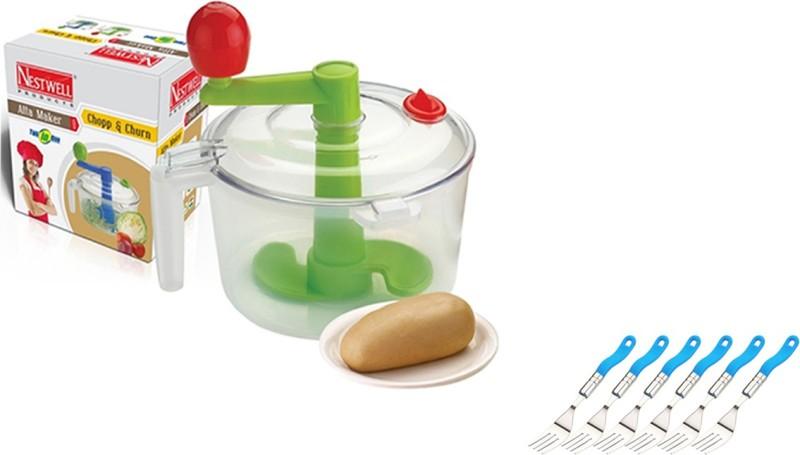 Nestwell Plastic Detachable Dough Maker(Multicolor)