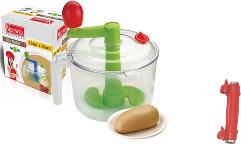 Nestwell AATA MAKER WITH SWEET CORN CUTTER COMBO Plastic Spiral Dough Maker(Multicolor)